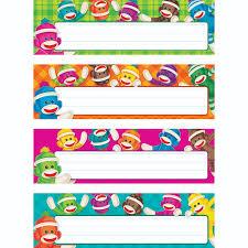 coordinates with sock monkeys collection t69912trend 5 81 teachchildren com sock monkeys desk name plates variety pack t69912 trend html