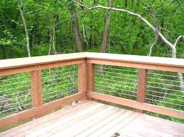 decking cable railing deck systems ultra modern steel cable deck railing r7