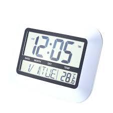 digital office wall clocks digital. Officeworks Digital Wall Clock 1 Piece Self Setting Home Office Decor With Indoor Clocks