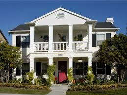 2 story house plans with upstairs balcony white two story traditional house front