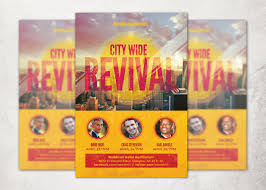 revival flyers templates city wide revival church flyer template inspiks market