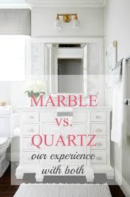 Quartz Bathroom Countertop Marble Vs Quartz Countertops Marble Carrera Is Beautiful But