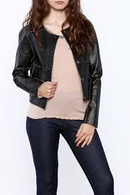 rino pelle reversible leather jacket front cropped image