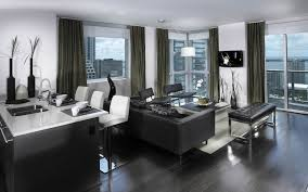 Modern Apartment Living Room With Bi Fold Door To Balcony Stock - Contemporary apartment living room