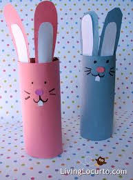 diy easter bunny candy holder craft perfect toilet paper roll craft to make with kids