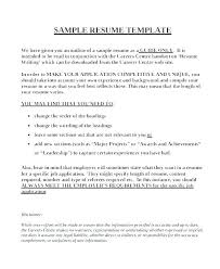 Free Simple Job Resume Templates High School For College Template