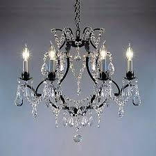 crystal and iron chandelier