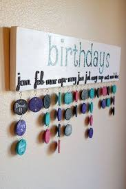 Birthday Chart Family Birthdays Home Crafts Family
