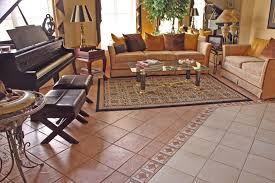 livingom winsome ceramic tile floor transitioning kitchen to the pros and cons of best tiles for