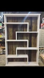 i built this modern bookshelf with barnwood back woodworking
