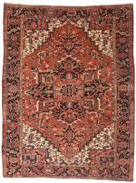 persian heriz 8 x 10 wool oriental rug 7084