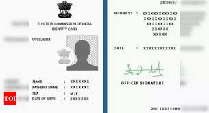 how to correct address in the voter id
