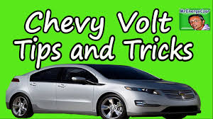 Chevy Volt Tips and Tricks - YouTube