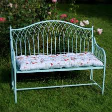 shabby chic outdoor furniture. shabby chic rustic garden bench steel in blue or cream outdoor furniture o