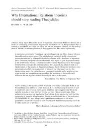 PDF) Why International Relations theorists should stop reading Thucydides |  Ana Zadro - Academia.edu