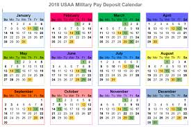 2019 And 2020 Usaa Military Pay Deposit Dates With