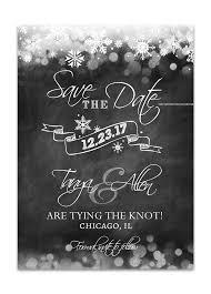 Winter Wedding Save The Date Winter Chalkboard Wedding Save The Date Card Black Odd Lot Paperie