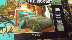 size bedding 6 pc set camouflage blue