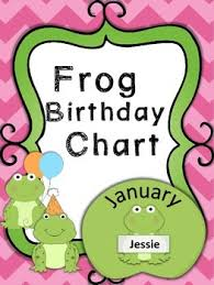 Bee Themed Birthday Chart Birthday Chart Frog Themed