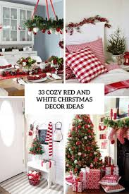 cozy red and white christmas decor ideas cover