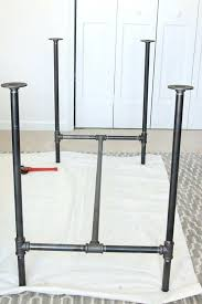 iron pipe furniture. Steel Pipe Furniture How To Build A Workbench With Butcher Block And . Iron E