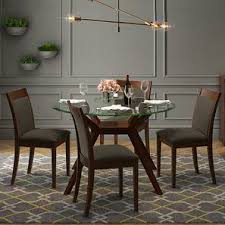 round glass dining table. Wonderful Round Wesley Dalla 4 Seater Round Glass Top Dining Table Set Grey Lp Intended Round Glass Dining Table
