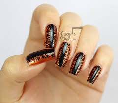 Halloween Style Black Lace Nail Art Design - Lucy's Stash