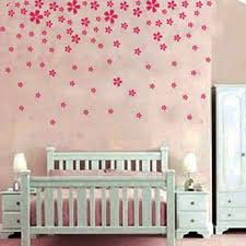 nursery pink flower wall sticker decal nursery and girls room vfupty