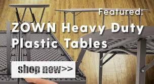 featured zown heavy duty plastic folding tables