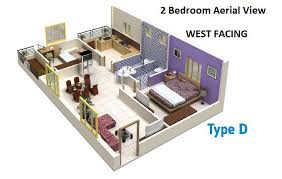 1140 west 2 bhk on request 2d view