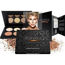 aesthetica cosmetics contour and highlighting powder foundation palette contouring makeup kit easy to follow