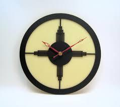new handmade art deco style wall clock