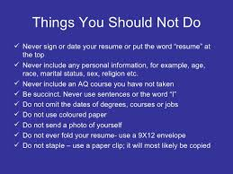 What Should Not Be Included In A Resume Resume Writing For Teachers