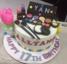 Makeup themed cake is a perfect choice for teenage girls. Coolest Homemade Diva Glamour And Spa Cakes