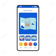 Brochure Maker Smartphone Interface Template Online Pamphlets