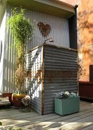 industrial patio by sarah greenman sarah greenman rustic corrugated metal