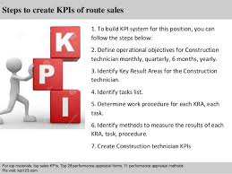 2 steps to create kpis of route sales route sales