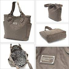 Marc by Marc Jacobs Pretty Nylon Quilted Medium Tate Tote Storm ... & NWT $198 MARC BY MARC JACOBS Pretty Nylon Medium Tate Tote - Quartz Grey Adamdwight.com