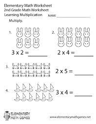 Second Grade Multiplication Worksheet Printable : Kelpies