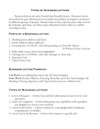 Type Of Business Letters Sample The Letter Sample