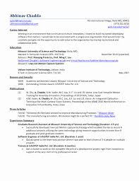 Resume Format For Software Developer Freshers Lovely Cover Letter