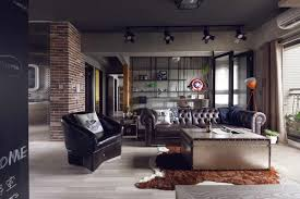 fabulous apartment design with industrial feel and fashionable decor which suitable for bachelor industrial home decor e85