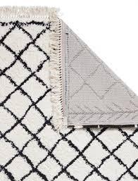 boho rugs boho 7043 gy rugs in white black capitalrugs
