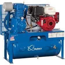 gas compressor. free shipping \u2014 quincy qp-7.5 pressure lubricated reciprocating air compressor 13 hp, gas