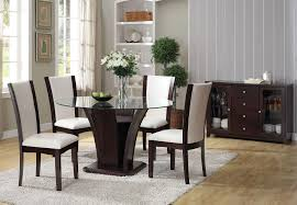 Glass Dining Table Set 4 Chairs Round Glass Extending Table Best Nice Glass Round Dining Table