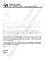 Example Of Education Cover Letters English Teacher Cover Letter Sample Principal Resume Resume