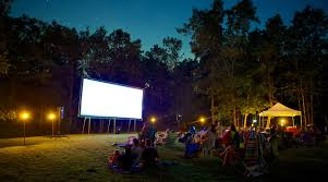 backyard theater outdoor projection screen