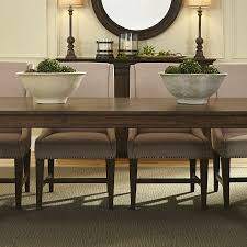 armand brown extendable pedestal dining table