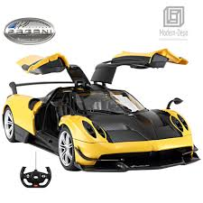 rastar pagani huayra bc rc car 1 14 scale radio remote control open door yellow