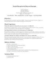 medical receptionist duties for resume sample resume of receptionist simple resume format